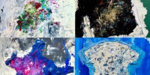 【ハ・ジウォン公式Instagram】Traces of_mixed media on canvas_50s & 100f_2021_Polarpo 2021.7.23